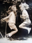 I am on the right, and I think that is Alex Cummings on the left. We girls at Tokeneke spent long hours jumping rope (an