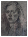 Beverly Madden . . . . . . .  self-portrait, charcoal