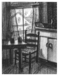 Beverly Madden . . . . .  kitchen, charcoal