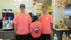 The crew at the concession stand at Weed Beach