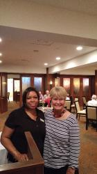 Sharon and Sharon wonderful helper at the Double Tree